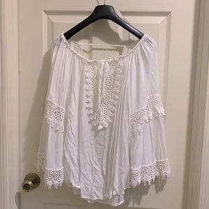Made in Italy Lace White Blouse